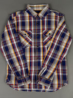 UES Heavy Flannel Shirt Navy front pockets