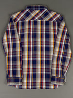 UES Heavy plaid Flannel Shirt Navy back