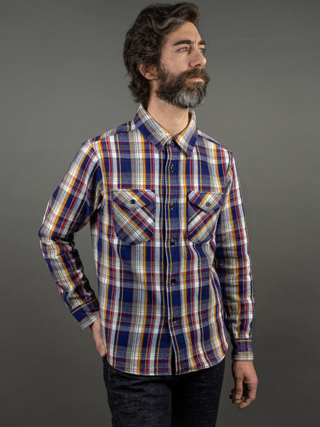 UES Heavy Flannel Shirt Navy