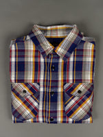 UES Heavy Flannel Shirt Navy chest pockets