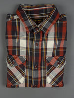 UES Heavy Flannel Shirt Red cotton
