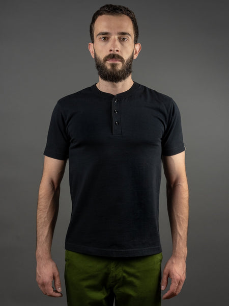 UES Ramayana Henley Neck T-Shirt Black