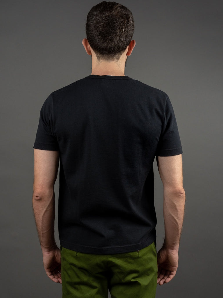 UES Ramayana Henley Neck T-Shirt Black back
