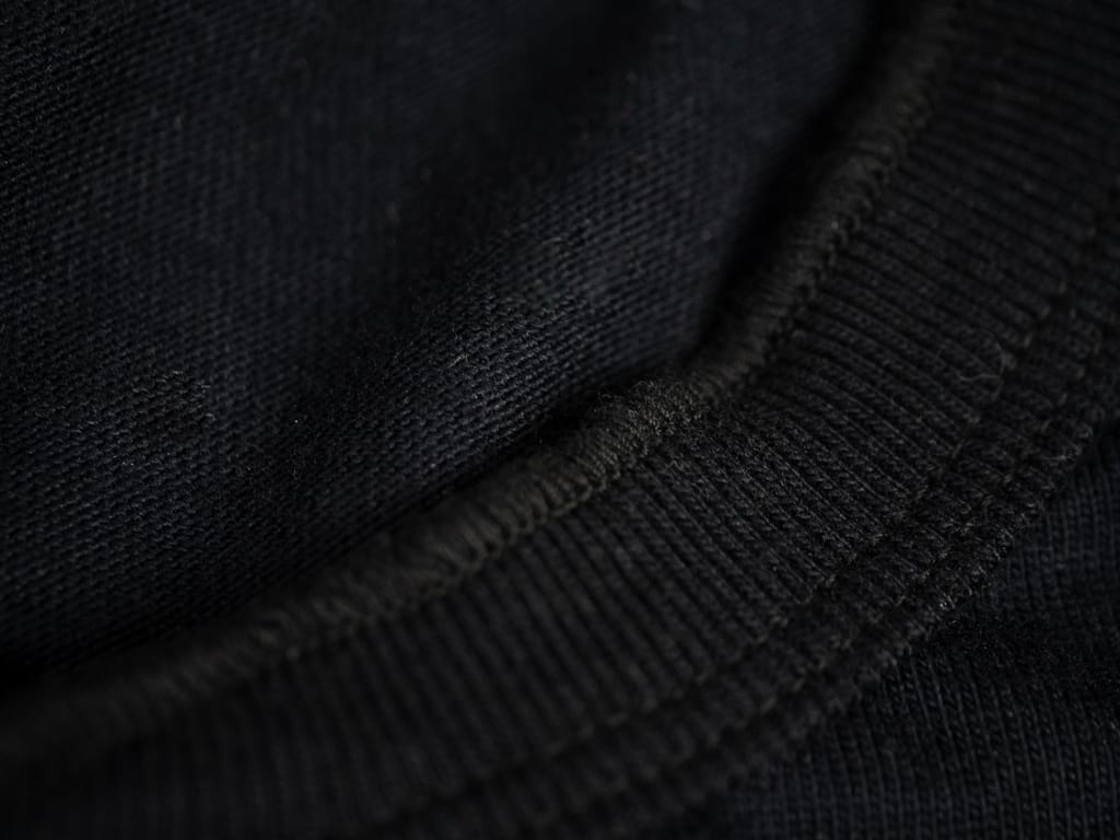 UES Ramayana Henley Neck T-Shirt Black collar detail