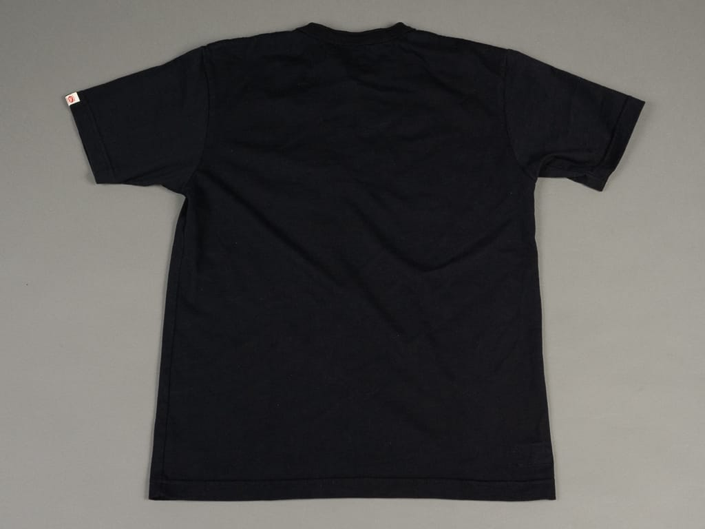 UES Ramayana Henley Neck T-Shirt Black knit