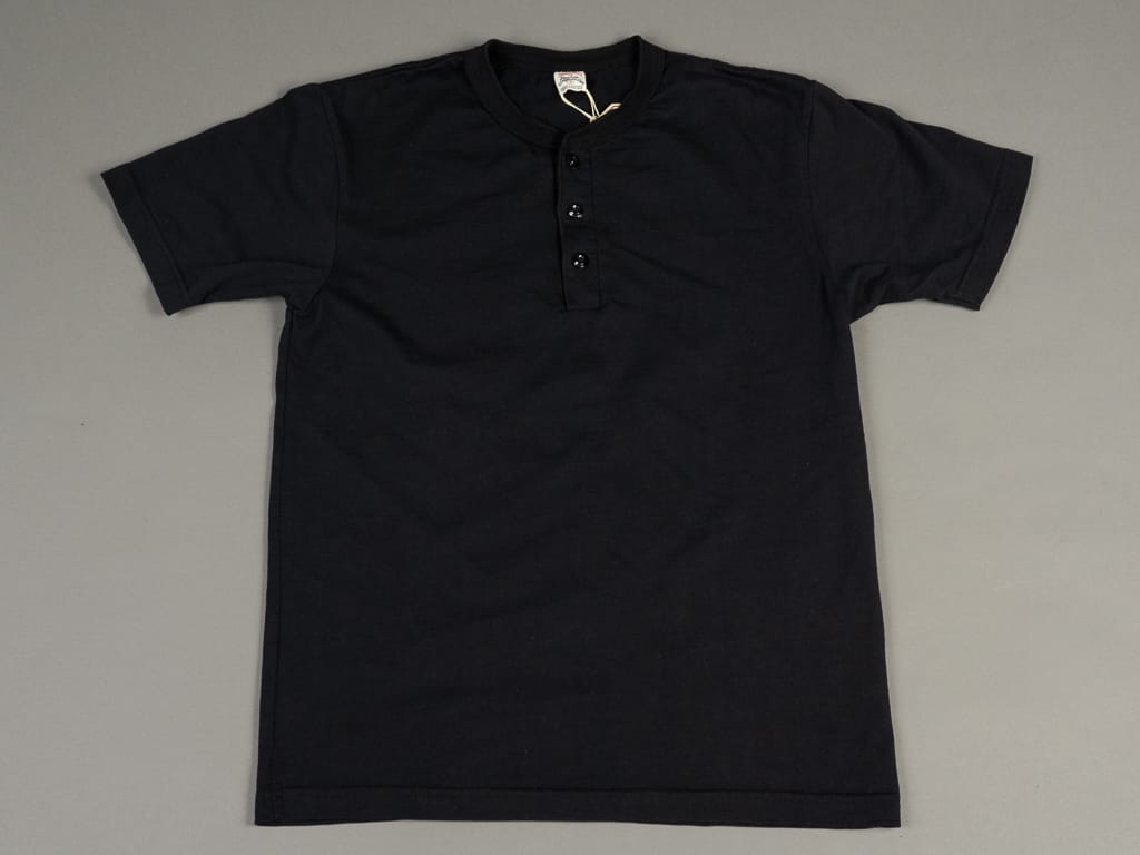 UES Ramayana Henley Neck T-Shirt Black slim fit
