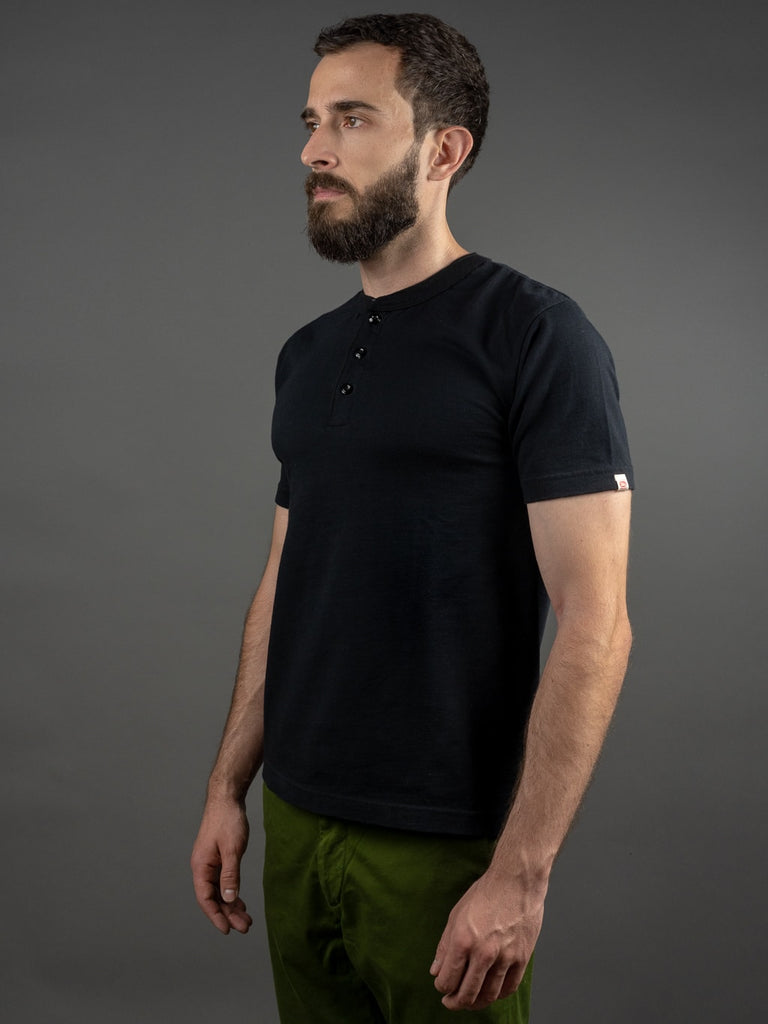 UES Ramayana Henley Neck T-Shirt Black side