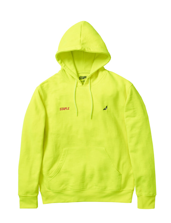 STAPLE 1910H5765 Pigeon Athletic Hoody Neon Yellow  Designers Closet