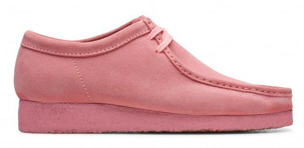 CLARKS 26147300 Wallabee Men's Shoe Bright Pink  Designers Closet