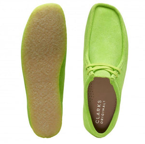 CLARKS 26148597 Wallabee Bright Lime  Designers Closet