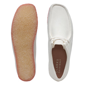 CLARKS 26148599 WALLABEE Men's Shoe BRIGHT WHITE Pink  Designers Closet