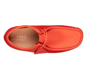 CLARKS 26151267 Wallabee Red Combi Suede  Designers Closet