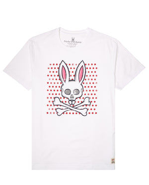 Psycho Bunny B6U523G1PC Mens Graphic Tee WHITE / S Designers Closet