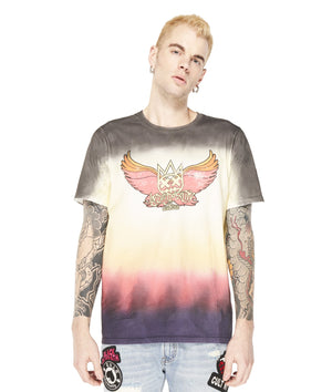 Cult of Individuality 69B8-K22A Wings Short Sleeve Crew  Designers Closet