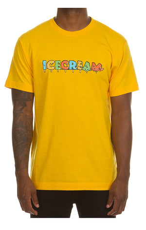 ICE CREAM 491-9203 Drip Short Sleeve Tee SYLLW / S Designers Closet