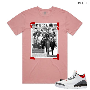 HASTAMUERTE NEWSPAPERHUSTLE Newspaper Hustle Tee ROSE / S Designers Closet