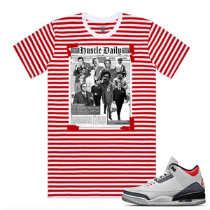 HASTAMUERTE NEWSPAPERHUSTLE Newspaper Hustle Tee WHT/RD / S Designers Closet