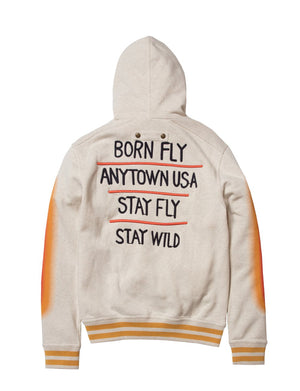 BORN FLY 1910H3477 Graphic Long Sleeve Hoody  Designers Closet