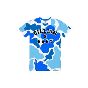BILLION $ BABY BLUEBERRYCAMOAOPTEE BLUEBERRY Camo AOP Tee  Designers Closet