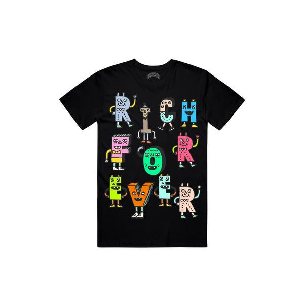 RICH FOREVER CHARACTERSTEE Characters T Shirt BLK / S Designers Closet