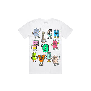 RICH FOREVER CHARACTERSTEE Characters T Shirt WHT / S Designers Closet
