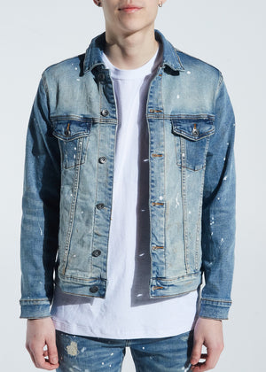CRYSP DENIM CRYSPSP120-202 Bering Denim Jacket  Designers Closet