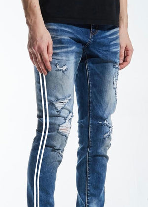 CRYSP DENIM CRYSPSP220-136 Line (BLUE/WHT)  Designers Closet