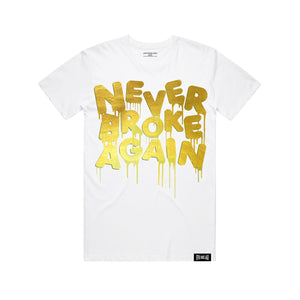 NEVER BROKE Again DRIPGOLDFOILTEE DRIP GOLD FOIL TSHIRT  Designers Closet