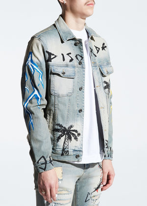 Embellish EMBF219-207 Disorda Denim Jacket  Designers Closet