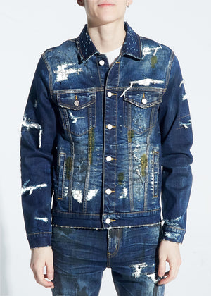 EMBELLISH EMBFALL120-209 Kane Denim Jacket  Designers Closet
