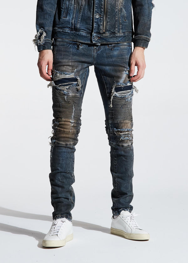 EMBELLISH EMBSP120-113 Rivers Biker Denim  Designers Closet
