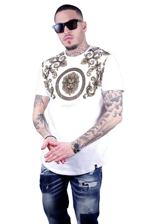 GEORGE V GV2018 Lion tee WHIT / S Designers Closet