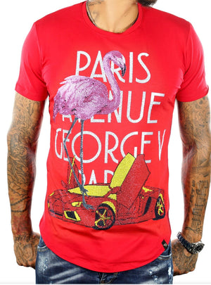 GEORGE V GV2059 Paris Avenue Tee RED / S Designers Closet