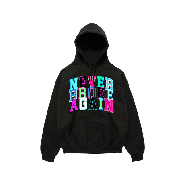 NEVER BROKE AGA HOLIDAYSTACKEDHOODY Holiday Stacked Hoody  Designers Closet