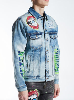 EMBELLISH EMBSP220-210 Devey Denim Jacket  Designers Closet
