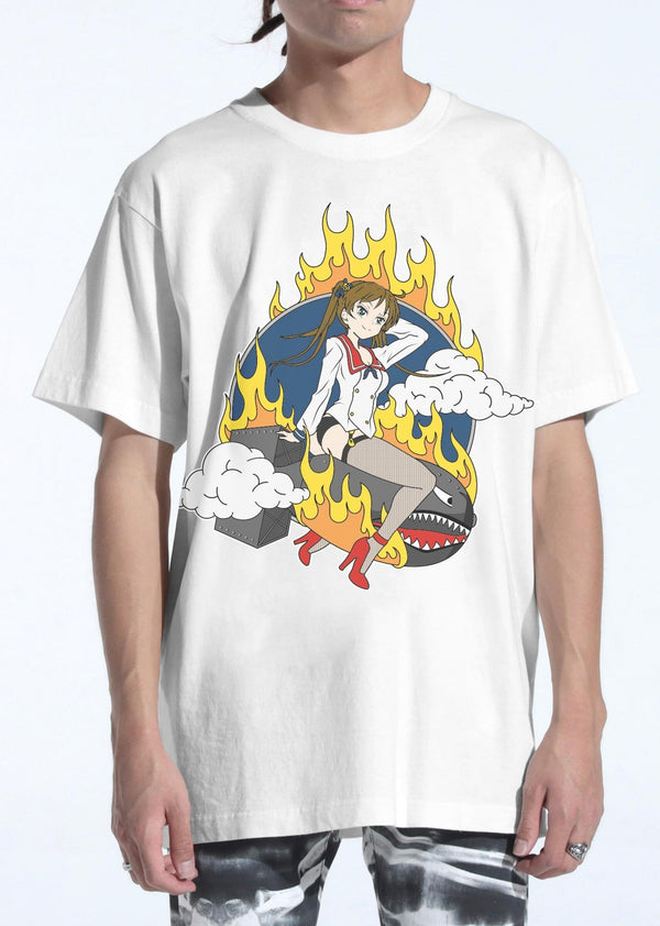 LIFTED ANCHORS LA20G-9 Warhead Tee WHT / S Designers Closet
