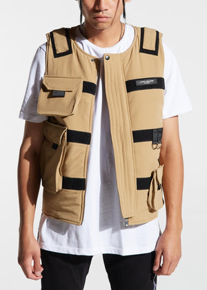 LIFTED ANCHORS LAH19-136 Asylum Velcro Military Vest  Designers Closet