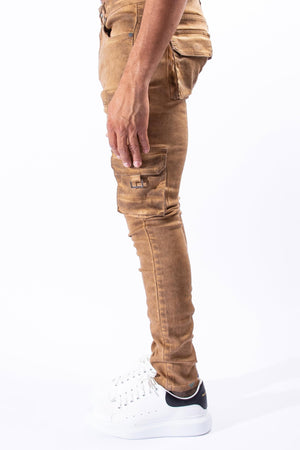 SERENEDE TGRSEYE Tigers Eye Cargo Jeans  Designers Closet