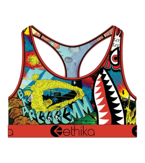 ETHIKA WLSB1208 Wild World Bra Female Sports Bra  Designers Closet