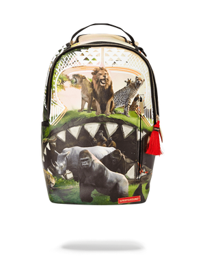 SPRAYGROUND B2306 Serengeti Shark Backpack  Designers Closet