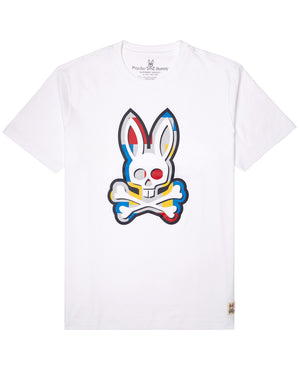 Psycho Bunny B6U517G1PC Mens Graphic Tee WHT / S Designers Closet