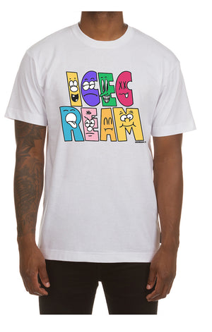 ICE CREAM 401-9204 Characters SS Tee WHT / 3X Designers Closet