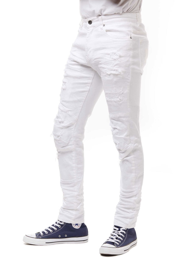 SMOKE RISE JP20132 Denim Pants WHT / 32X32 Designers Closet