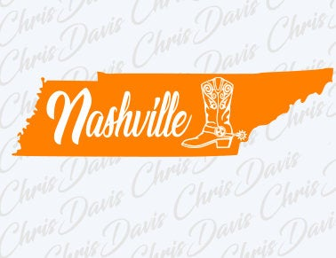 Nashville Boot Tennessee Tn Tri-star tristar Vector Download PNG SVG JPG You will receive all 3 Files