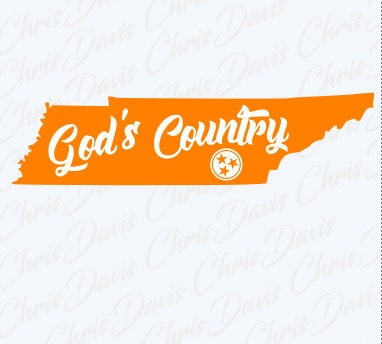 God's Country Tri Star Tn State Tennessee Vector Download PNG SVG JPG You will receive all 3 Files.