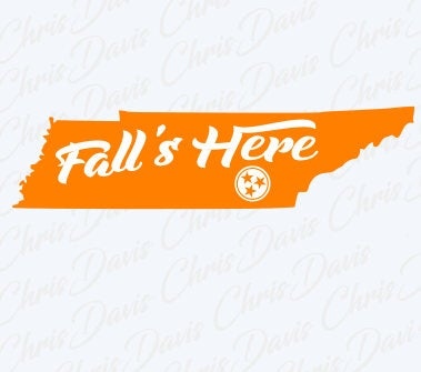 Fall's Here Tri Star State Tennessee Vector Download PNG SVG JPG You will receive all 3 Files.