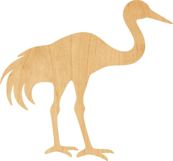 Crane Wooden Laser Cut Out Shape - Great for Crafting - Hobbyist - D.I.Y. Projects
