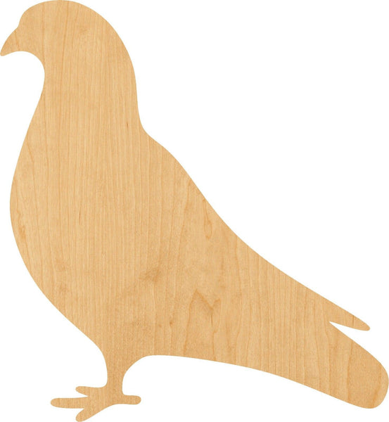 Pigeon Wooden Laser Cut Out Shape - Great for Crafting - Hobbyist - D.I.Y. Projects