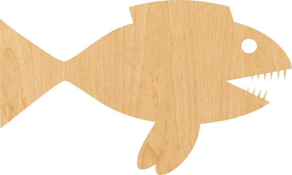 Pirrana Wooden Laser Cut Out Shape - Great for Crafting - Hobbyist - D.I.Y. Projects