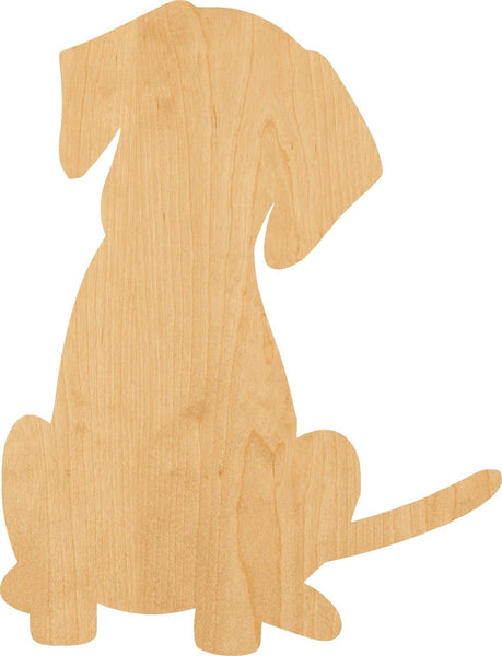 Puppy Wooden Laser Cut Out Shape - Great for Crafting - Hobbyist - D.I.Y. Projects